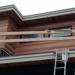 clear beveled cedar siding
